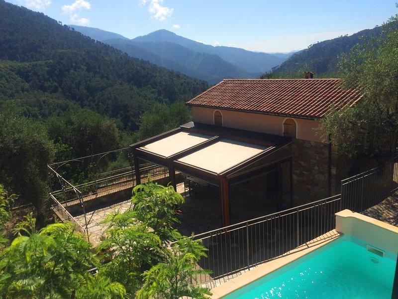 Villa accueillante et tranquille dans oliveraie centenaire. Piscine et conforts, holiday rental in Tende