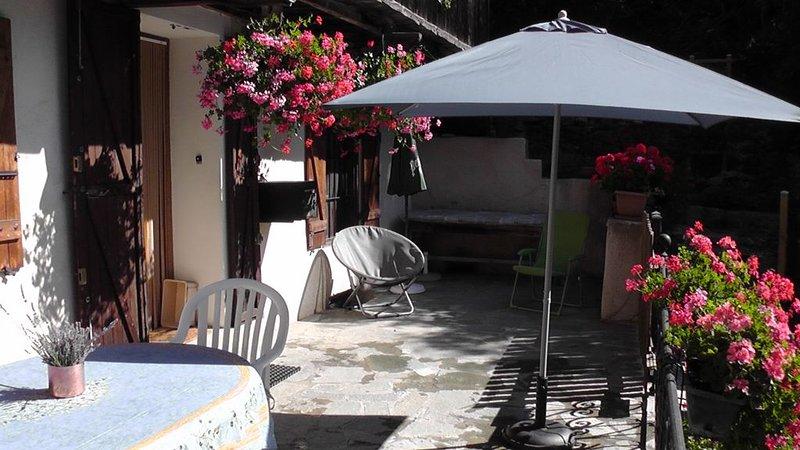 Les VIGNEAUX Hautes Alpes, Maison 4 personnes, avec belle terrasse panoramique,, location de vacances à Saint-Martin-de-Queyrieres