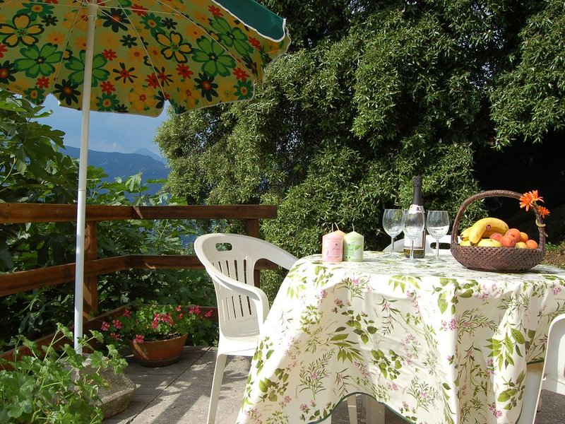 House with panoramic terrace and parking place on the Versilia hills, location de vacances à Piano di Conca