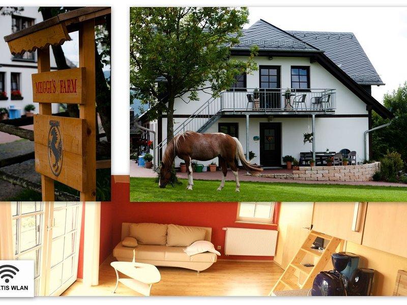Meggi's Farm, Apartment Abendrot, Herrliche Wanderrouten am Rothaarsteig, holiday rental in Rehe