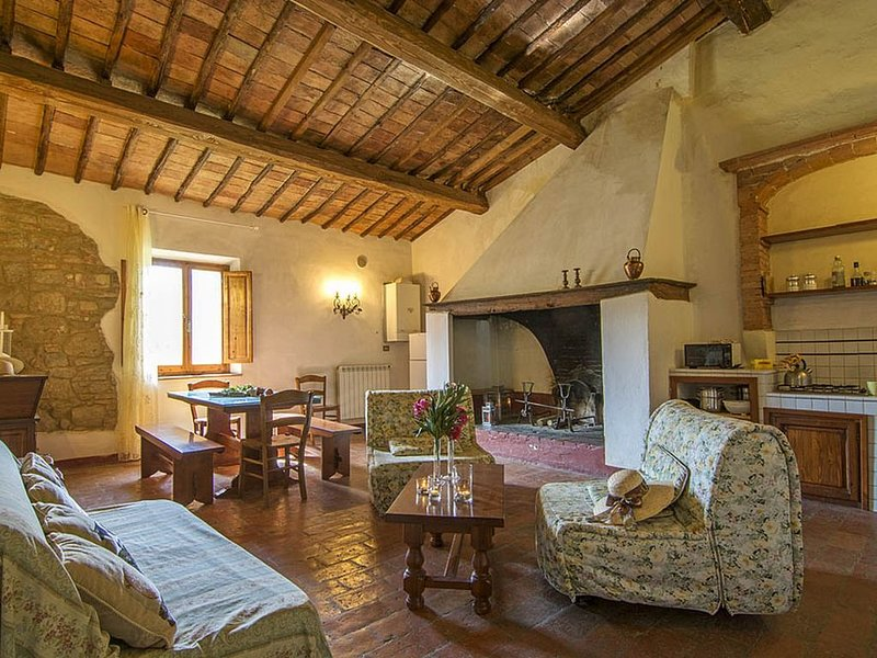 Wohnung im ersten Stock mit schoenem Panorama Blick, vacation rental in Torrita di Siena