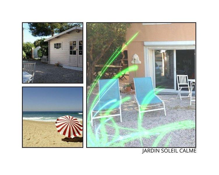PROMO  GD T2  50 M2 - PLAGE 4MN A PIEDS  + PISCINE JARDIN calme pas de vis a vis, location de vacances à Martigues