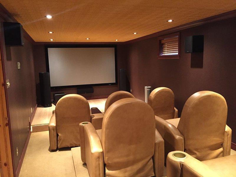 Movie theater with satellite tv