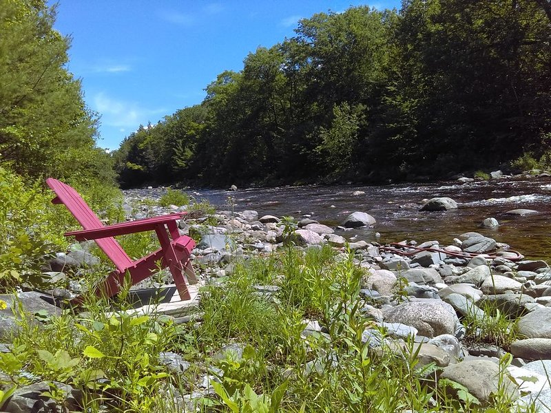 Private, two-acre campsite on beautiful Maine stream with cozy, rustic Cabin, vacation rental in West Forks