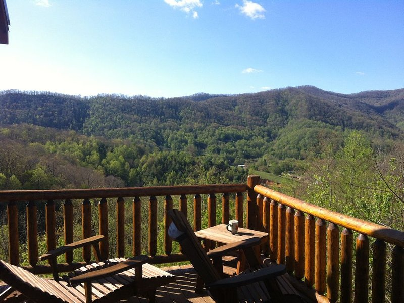 Family-friendly cabin, 360 degrees view of the mountains., alquiler de vacaciones en Waynesville