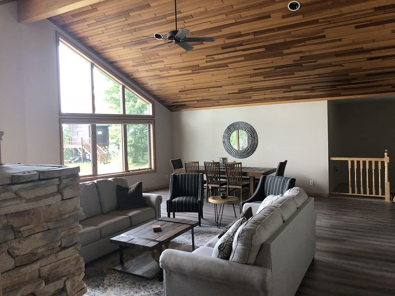 Large open living area.