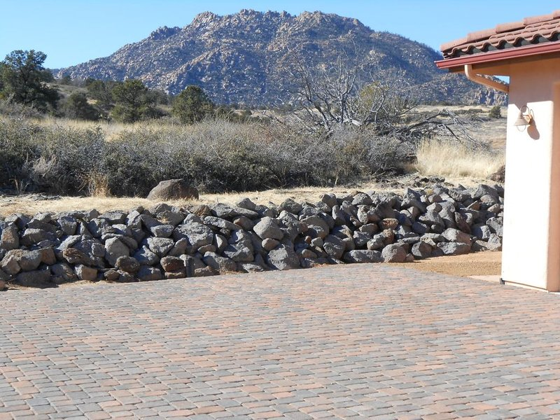 Vue sensationnelle de granit mountain