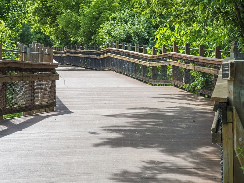 Riverwalk goes for miles along the river and leads to Flushing County Park.