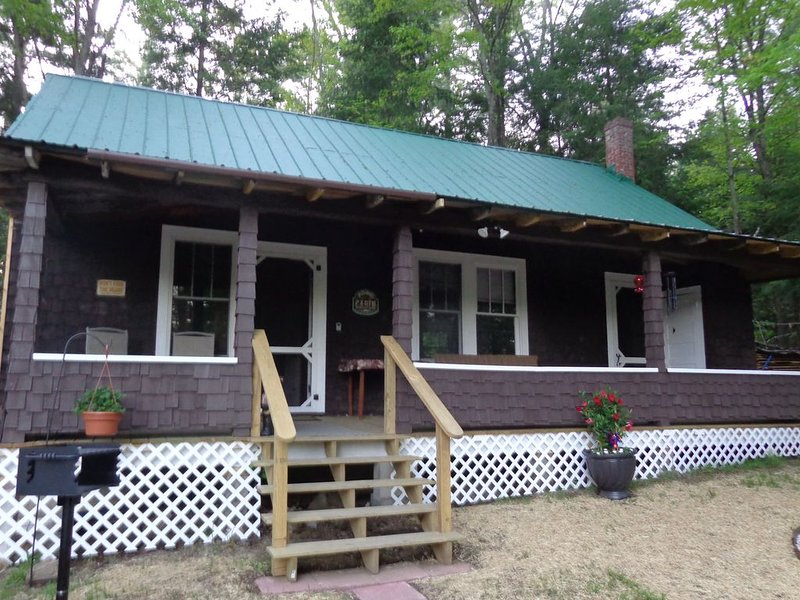 Pine Bear Cottage! Grass is now up and nice and green where planted.