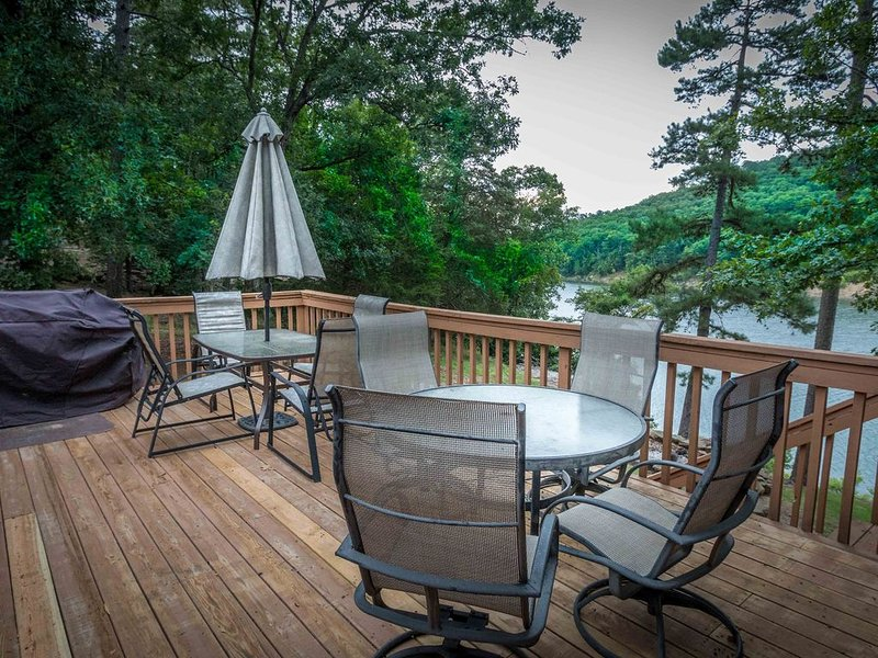 Enjoy the sunrise and a cup of coffee on your deck