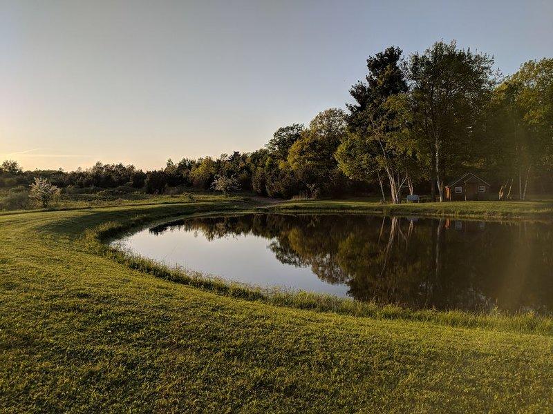 Cabin on Pond in the Finger Lakes, location de vacances à Addison