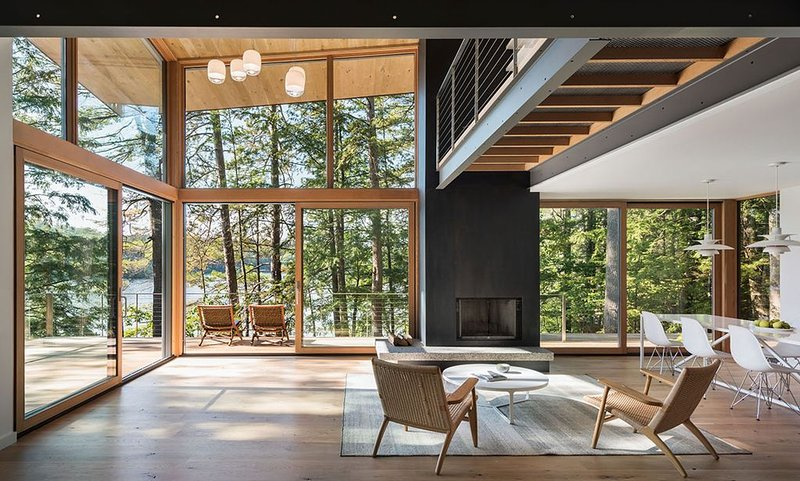 Modern masterpiece on Squam, featured in Dwell and Boston Magazine, location de vacances à Holderness