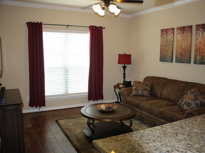 A&M Upscale Graduation / Ring Day / Corporate 1BR Condo, holiday rental in College Station
