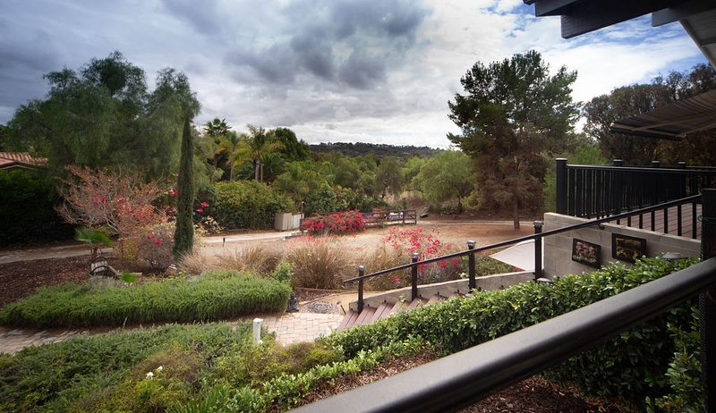 Private, spacious 3/4 acre property overlooking RSF, holiday rental in Encinitas