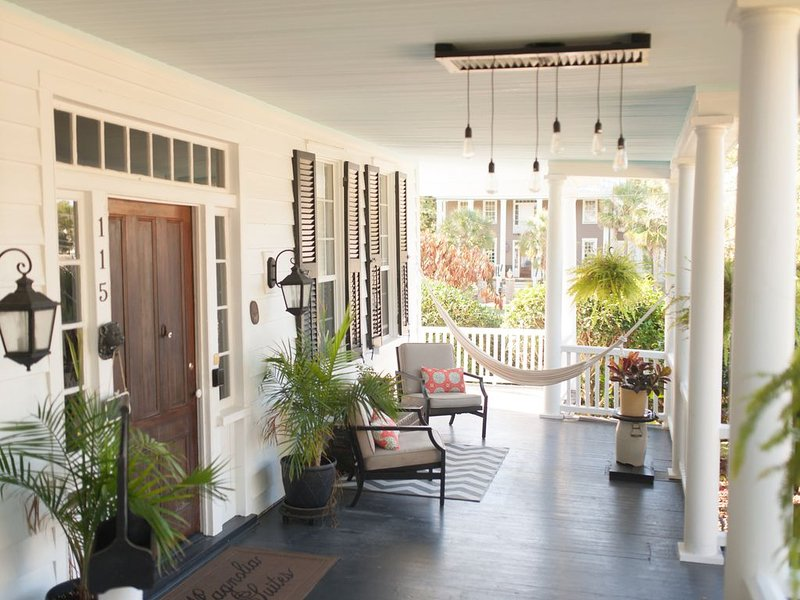 Southern porch, perfect setting for a nap.