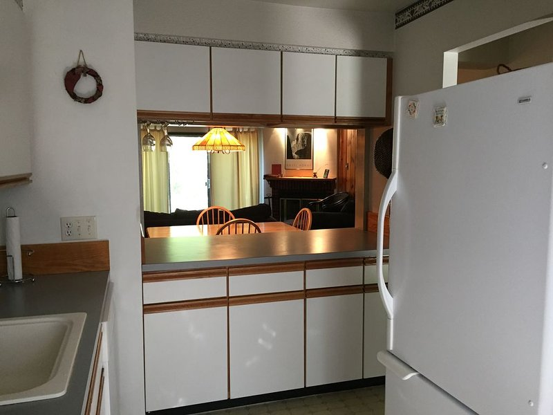 Enjoy a fully equipped kitchen during your stay.