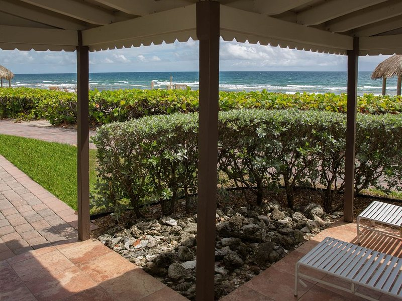 Oceanfront Villa step out the front door and you're on the beach!  Villa D, holiday rental in Hillsboro Beach