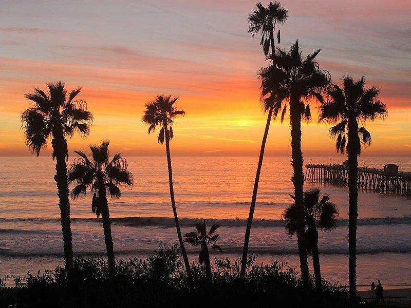 Air Conditioned, Ocean view, 2 blocks to Pier, beach, downtown shops/restaurants, location de vacances à San Onofre
