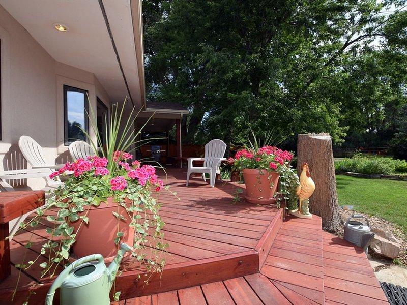 Wonderful deck to enjoy the morning
