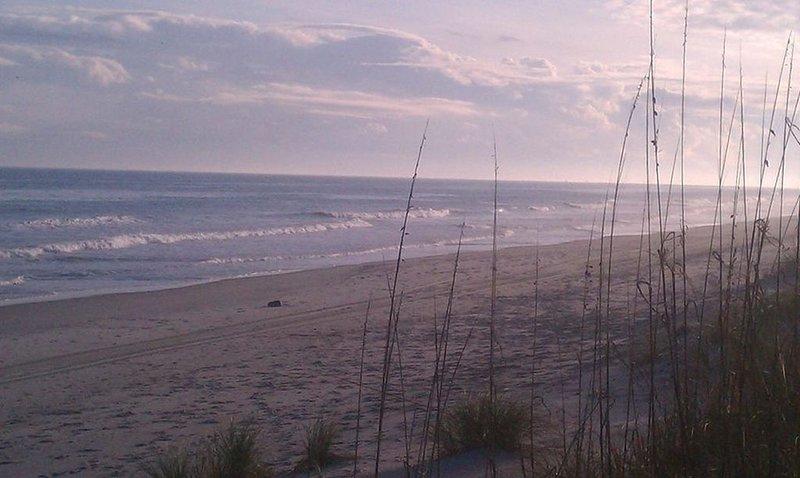 Photo de la plage tôt le matin