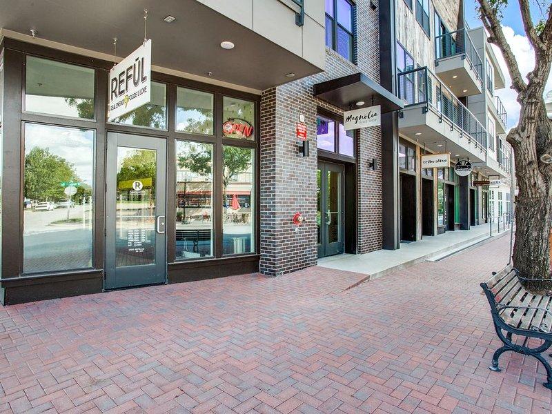 Street level retail, below condo