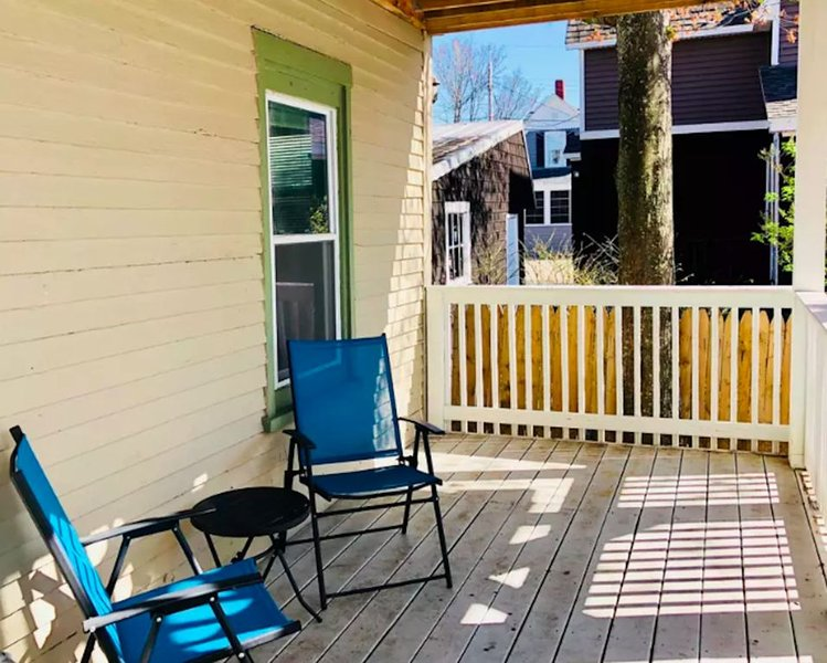 View of the outside space. New grill (not in pic) was installed in Summer 2019.