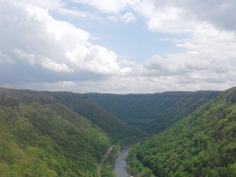 New River Gorge, Vista para o North Bound Lane
