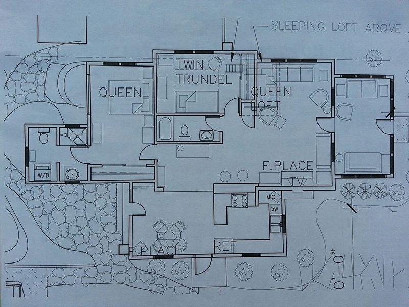 Floor plan of Lake House