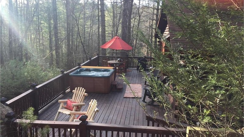 Private Deck with Hot Tub and Fire Pit