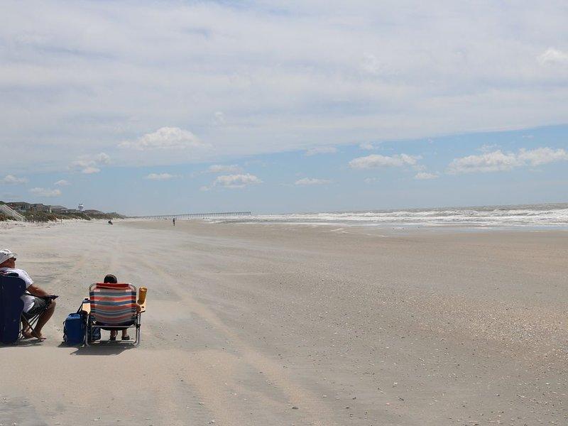 La playa, en marea baja.