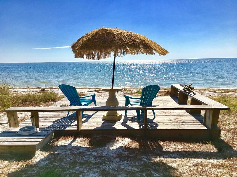Your own beachfront deck awaits!
