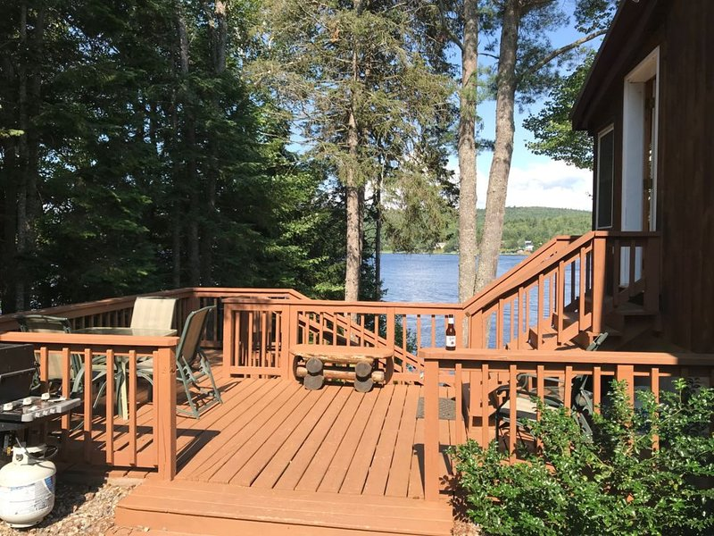 Deck with Lakefront Views!