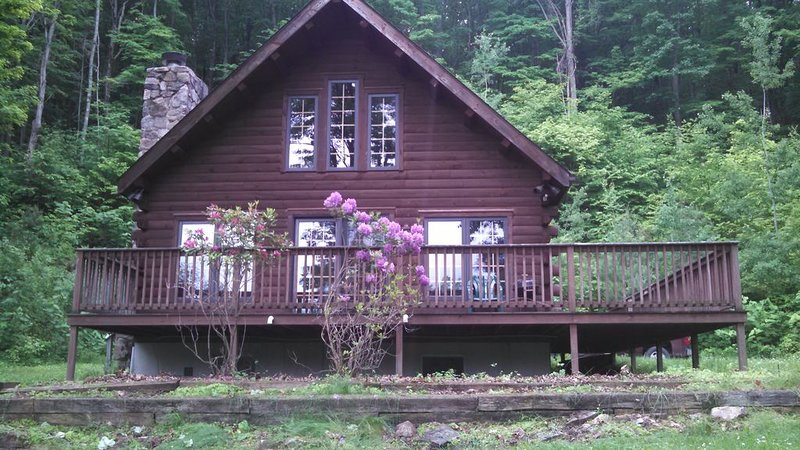 Log cabin in quiet setting only 15 miles from Penn State & 2 state parks, holiday rental in Julian
