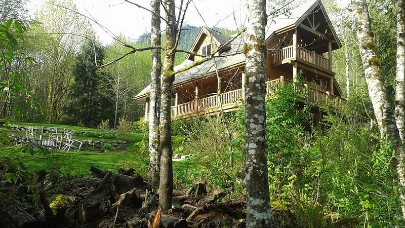 Custom Cabin On 5 Secluded Acres With Mountain Views!!! **HOT TUB **, alquiler de vacaciones en Index