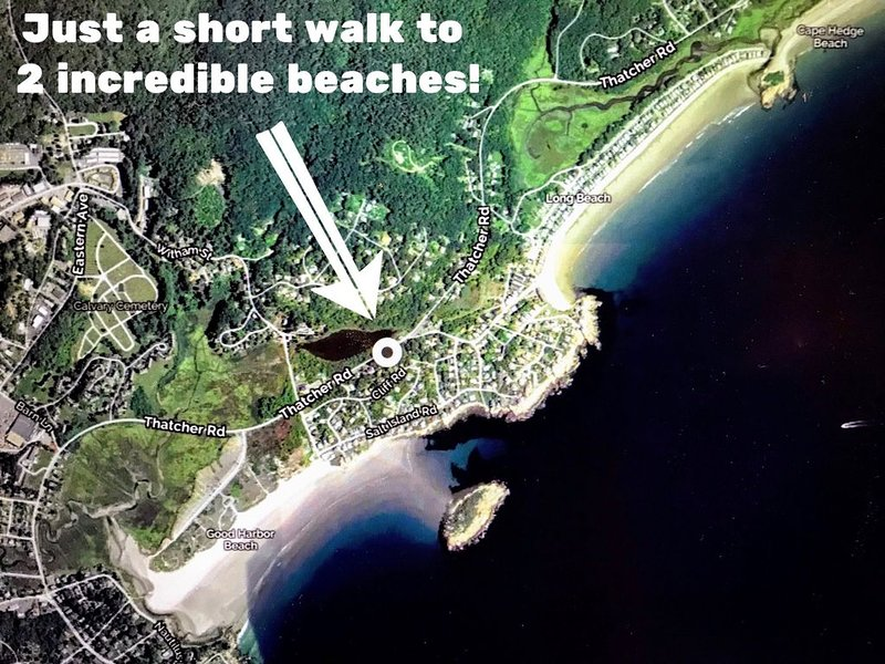 Fabulous fully furnished vacation home between Good Harbor Beach and Long Beach!, vacation rental in Cape Ann