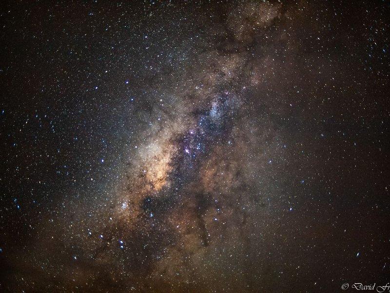 Imagen de la galaxia tomada en la playa - Astronomía