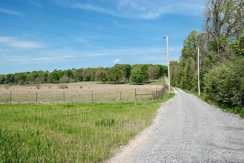 Long gravel driveway