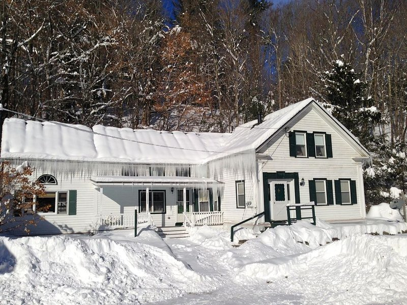 Fresh Powder and Bluebird skies.....Main Section of a two family farmhouse (Door on Right) - Private and Cozy - Close to Mt Snow and Strattion Mountains