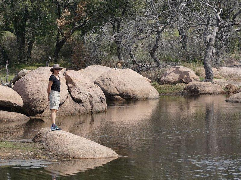 Disfrutar de las rocas de granito es nuestro pasatiempo favorito.