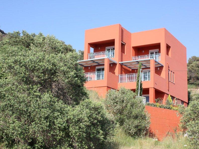 Ferienhaus in idyllischer Umgebung nahe zum Strand, Meerblick, Wifi | Plakias, K, aluguéis de temporada em Plakias
