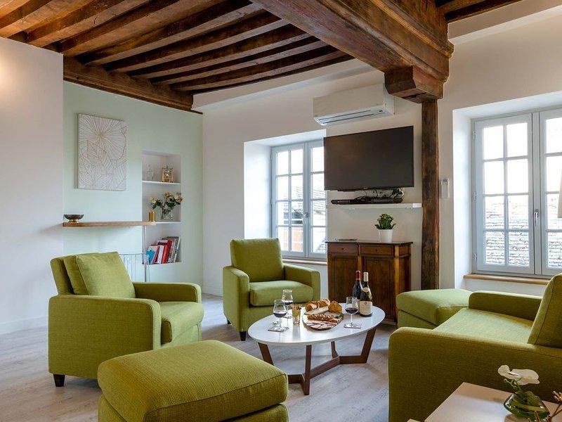 NEW - Luxueux appartement 4* avec ascenseur centre historique - BEAUNE GUIGONE, alquiler de vacaciones en Beaune
