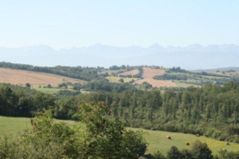 Bella vista di 200 km dei Pirenei!