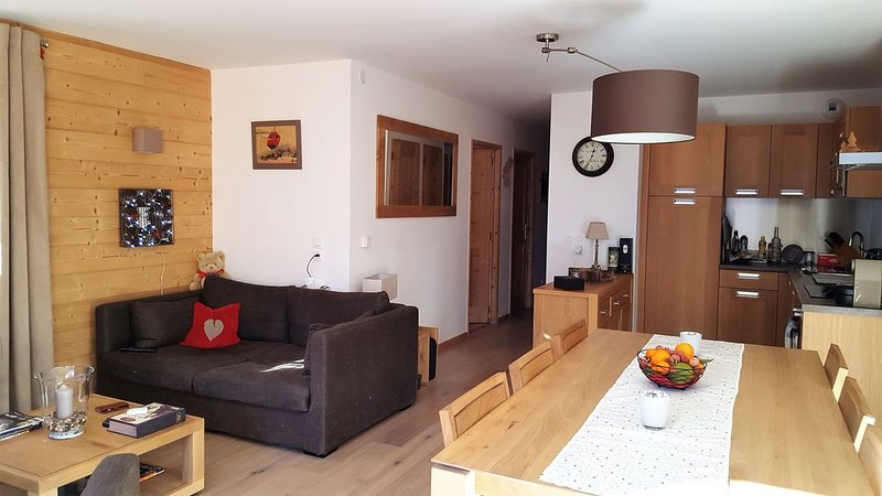 Appart. 3*-LES GETS-6 Pax- 70 m2-WIFI-2 CH*2SDB-150m. TELESIEGE PERRIERES EXPRES, vacation rental in Les Gets