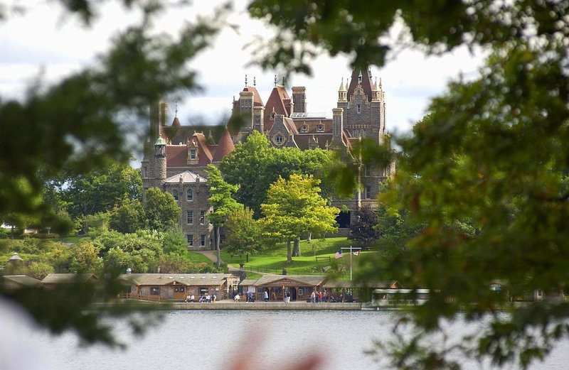 View of Boldt Castle from the house