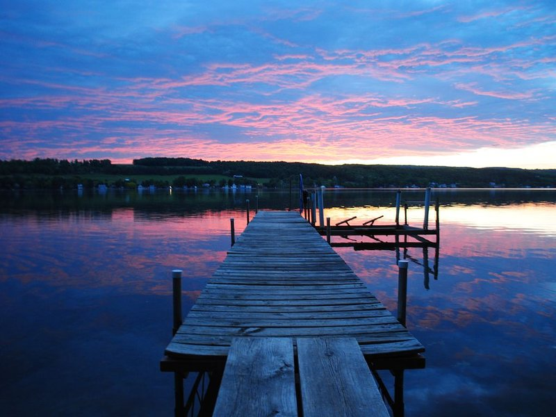 My favorite photo of our dock at sunset.
