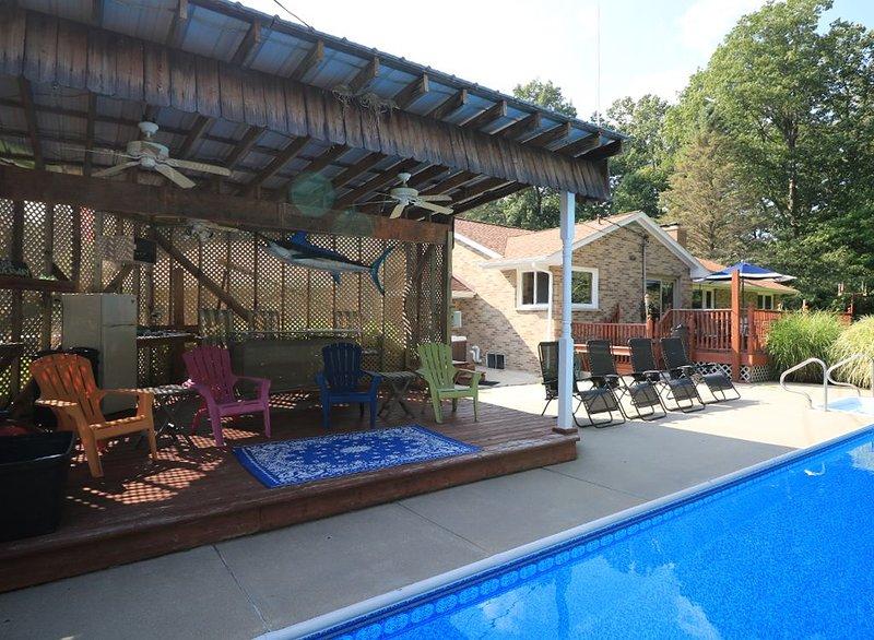 Fantastische Cabana neben dem Pool.