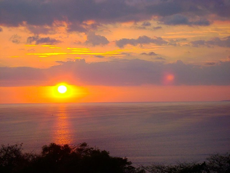Sunset from the Casa Carolina pool!
