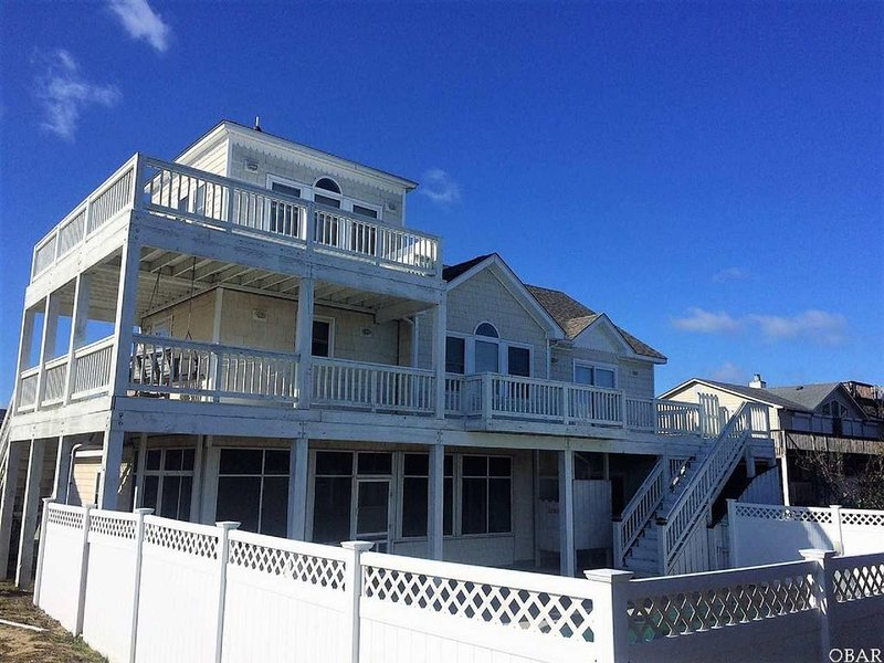 6 BR w/ SPECTACULAR OCEAN VIEW on GOLF COURSE; POOL & SPA - FREE LINENS, alquiler de vacaciones en Kitty Hawk