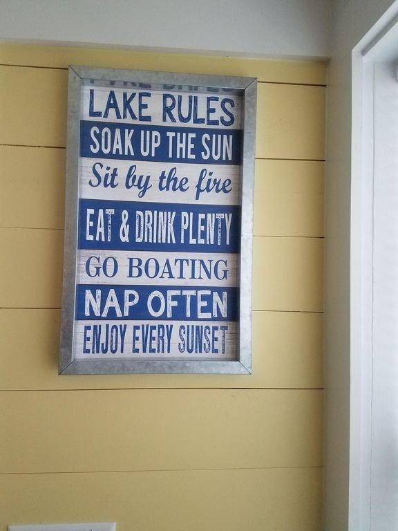 lake rules!