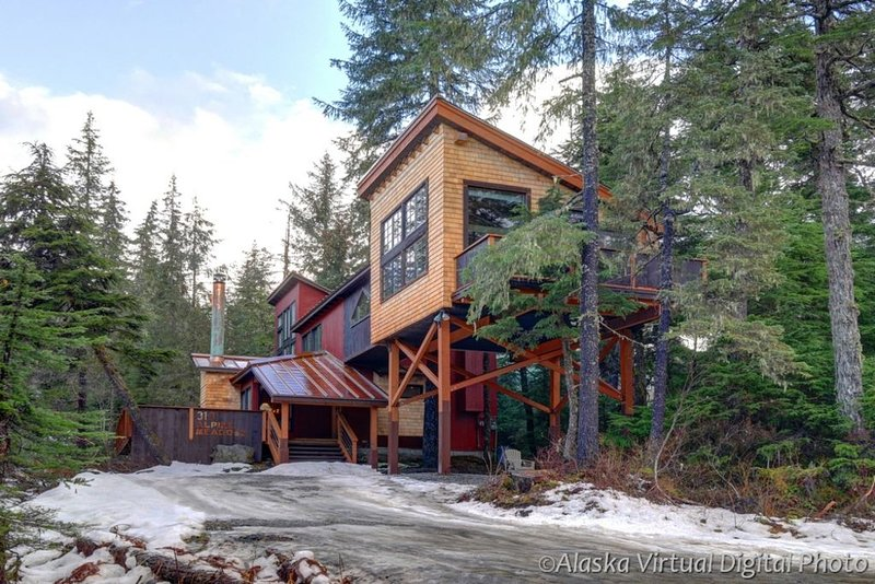 New rustic comtemporary custom chalet 1/2 mile from ski resort, alquiler de vacaciones en Girdwood